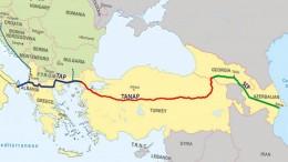 карта южный газовый коридор